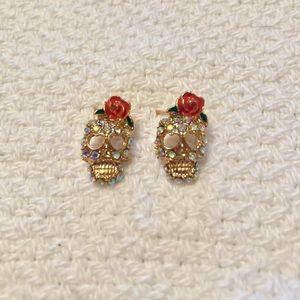 Skeleton Skull Earrings